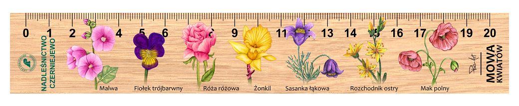 LES-72 - Mowa Kwiatow (linijki drewniane)