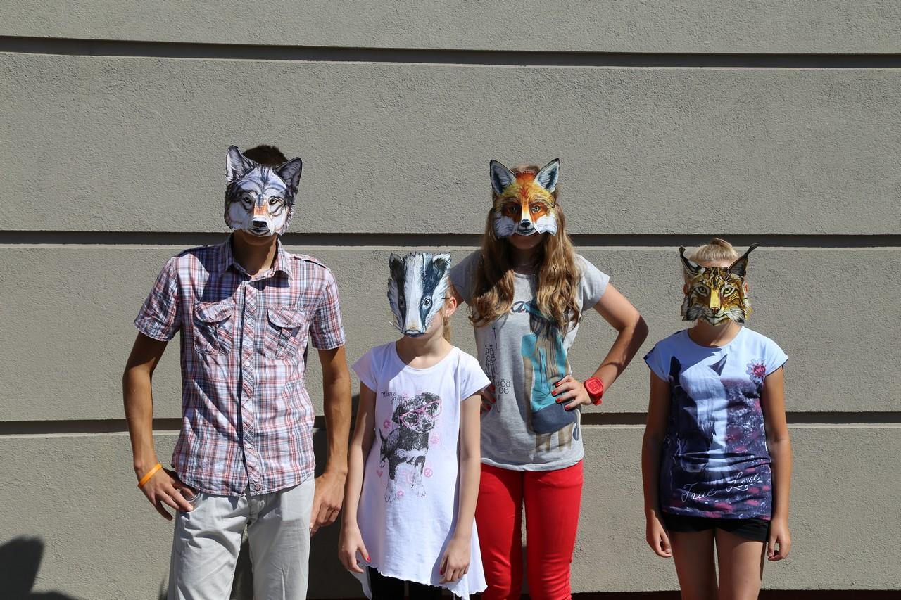 Edukacja leśna - maski zwierząt