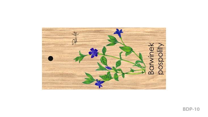 BDP-10 - Breloki drewniane prostokątne z nadrukiem