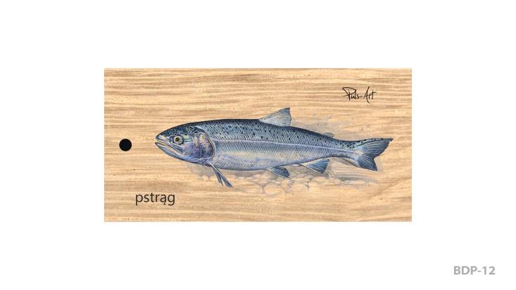BDP-12 - Breloki drewniane prostokątne z nadrukiem
