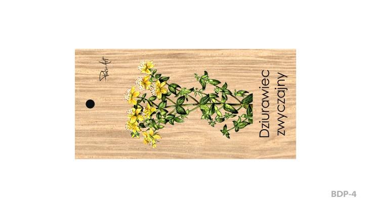 BDP-4 - Breloki drewniane prostokątne z nadrukiem