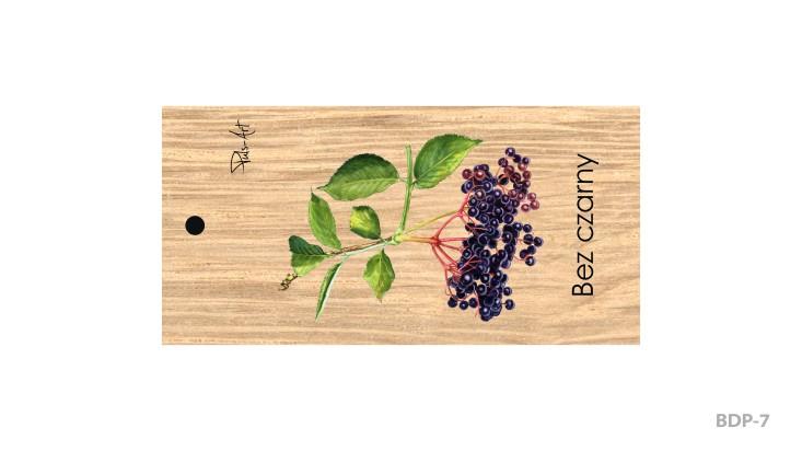 BDP-7 - Breloki drewniane prostokątne z nadrukiem