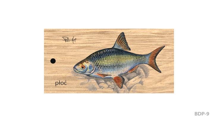 BDP-9 - Breloki drewniane prostokątne z nadrukiem