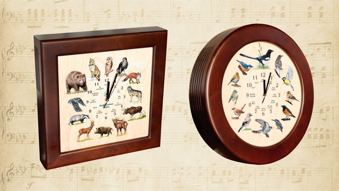 Zegary dźwiękowe - ptaki śpiewające, ssaki