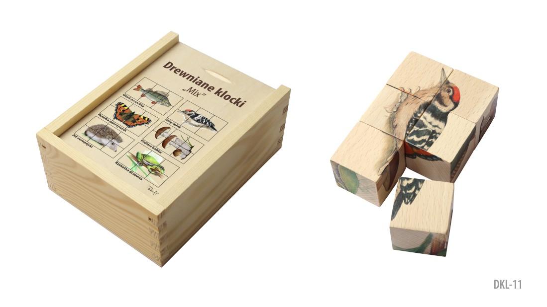 DKL-11 (Drewniane klocki - ukladanka przyrodnicza)