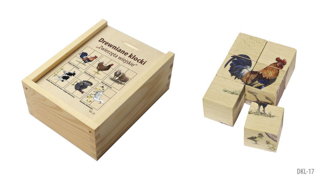 DKL-17 (Drewniane klocki - ukladanka przyrodnicza)