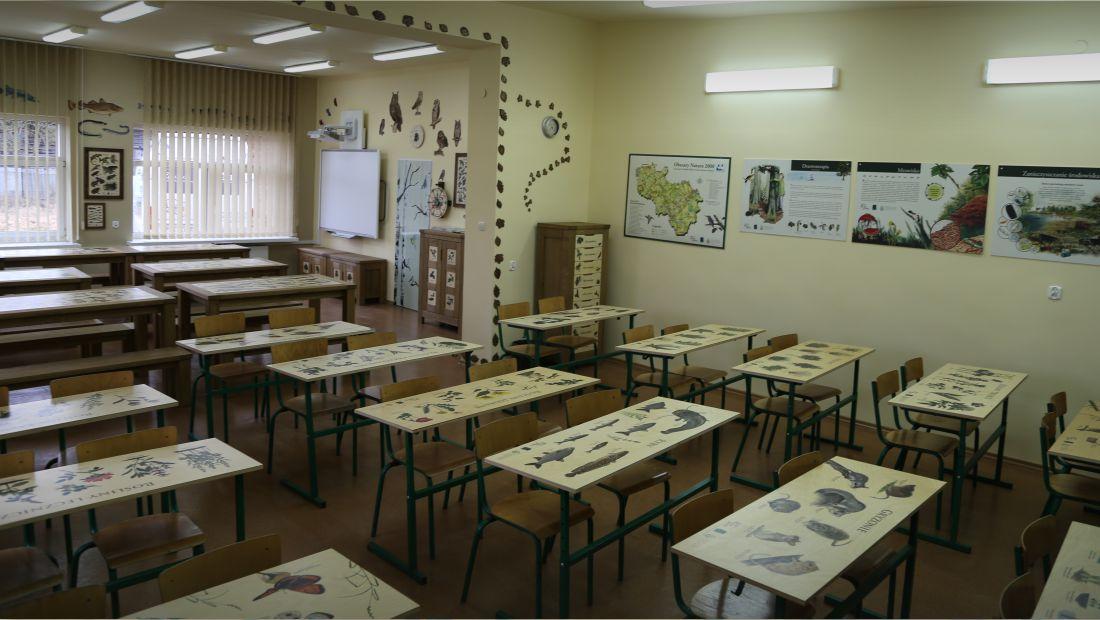 Przyrodnicze blaty do ławek szkolnych z nadrukiem