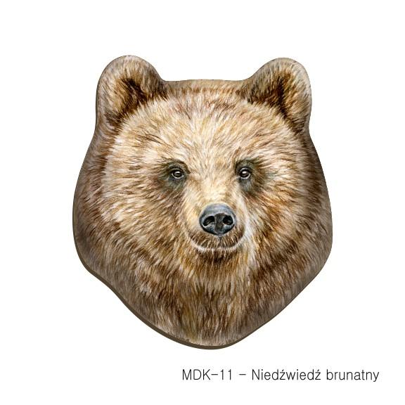 MDK-11 - Niedzwiedź brunatny (magnesy drewniane ksztalty)