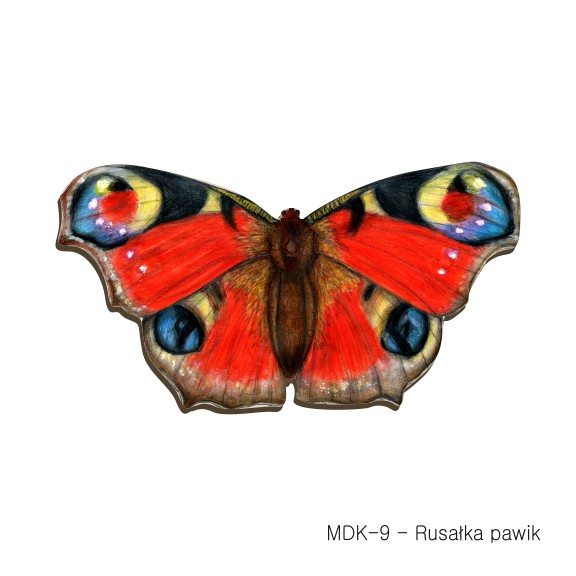 MDK-9 - Rusalka pawik (magnesy drewniane ksztalty)