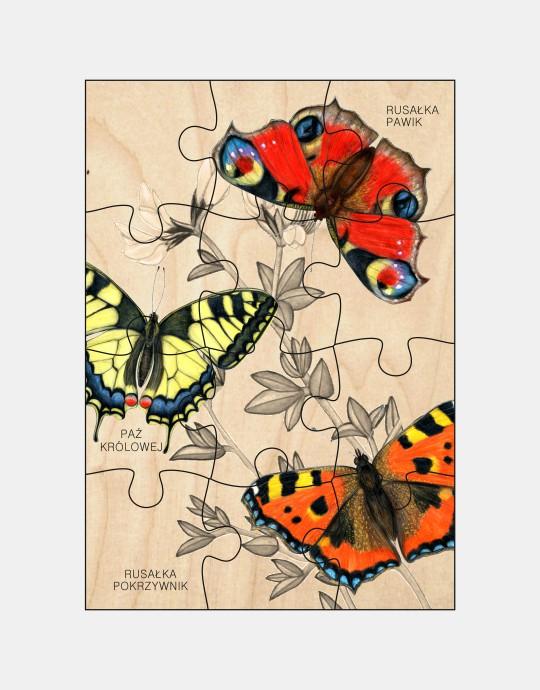 Puzzle drewniane - Motyle
