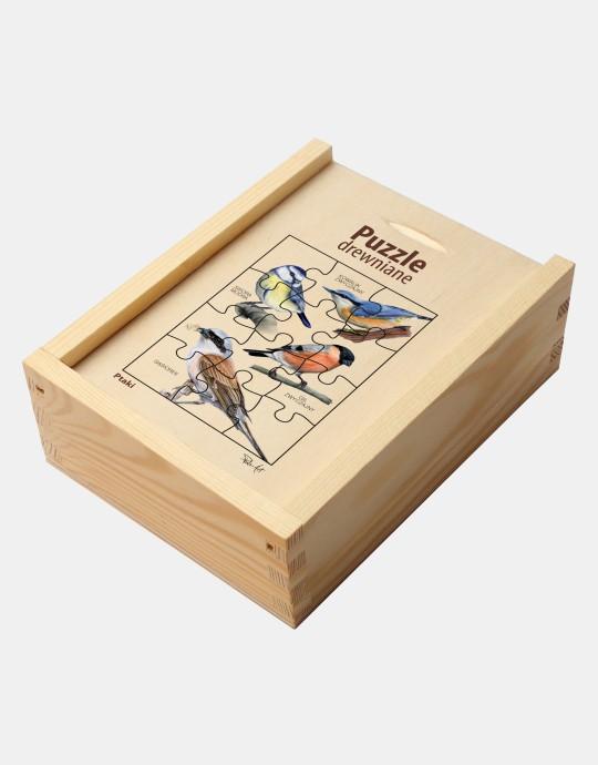 Puzzle drewniane - Ptaki