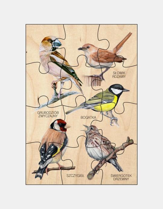 Puzzle drewniane - Ptaki 3
