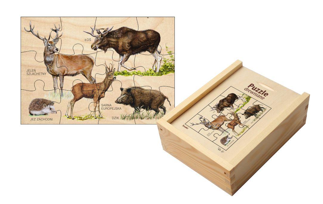 Puzzle drewniane - Ssaki