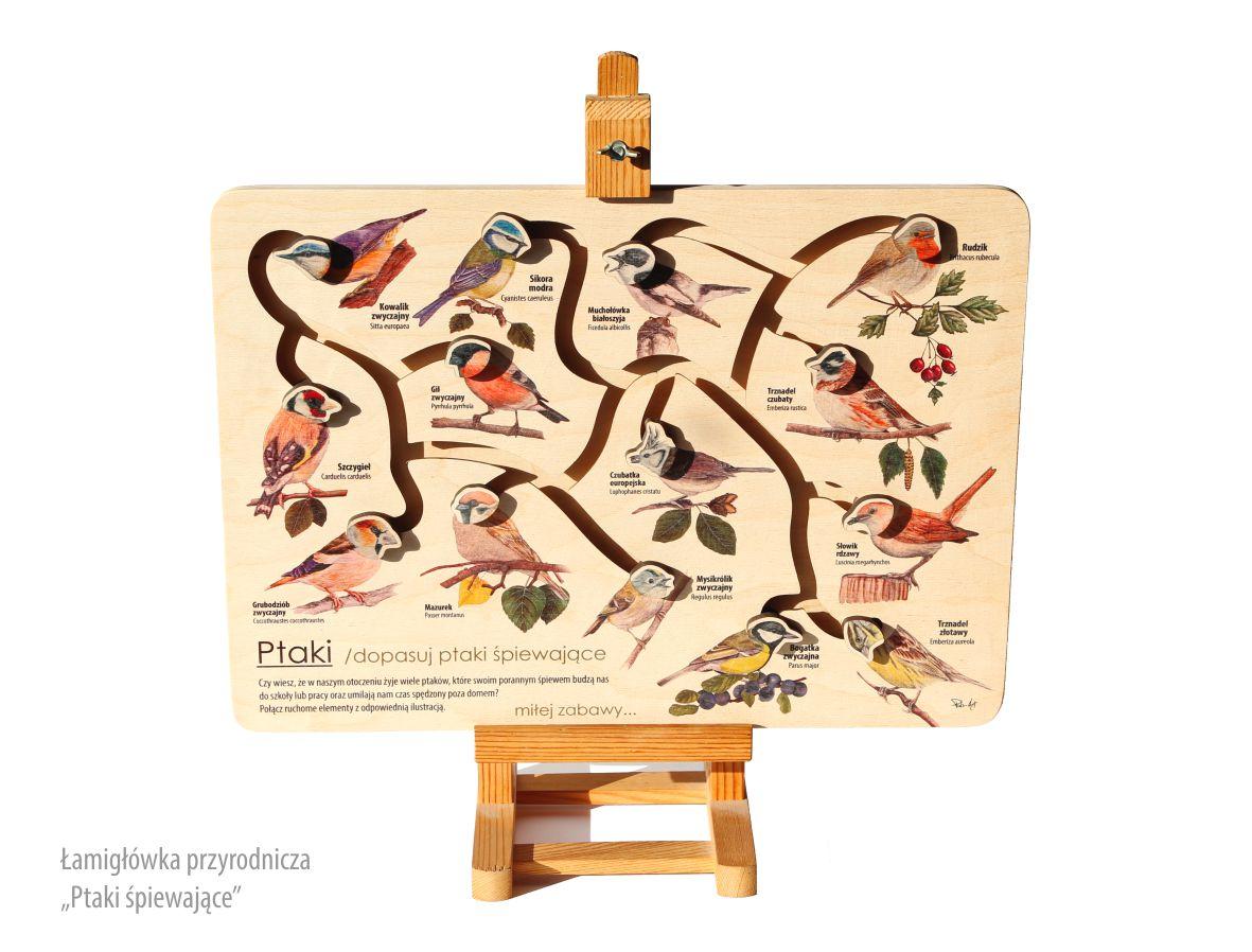 Łamigłówka przyrodnicza - Ptaki śpiewajace