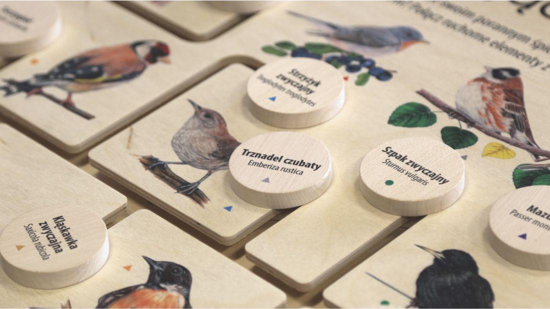 łamigłówka przyrodnicza - (interaktywna gra drewniana, przesuwanka)