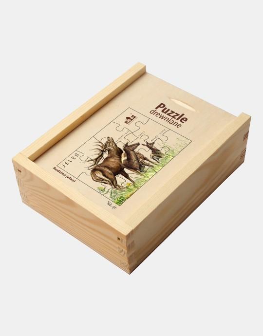 Puzzle drewniane - Rodzina jeleni
