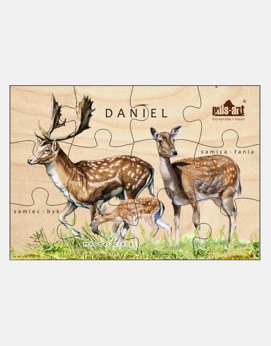 Puzzle drewniane - Rodzina daniele