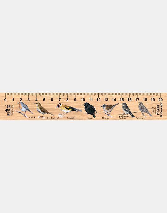 LESs-27 - Ptaki spiewajace (linijka drewniana)