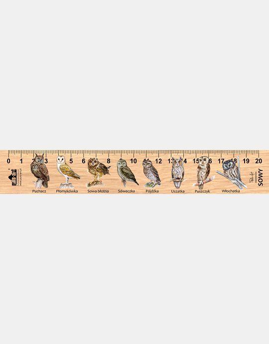 LESs-42 - Sowy (linijka drewniana)
