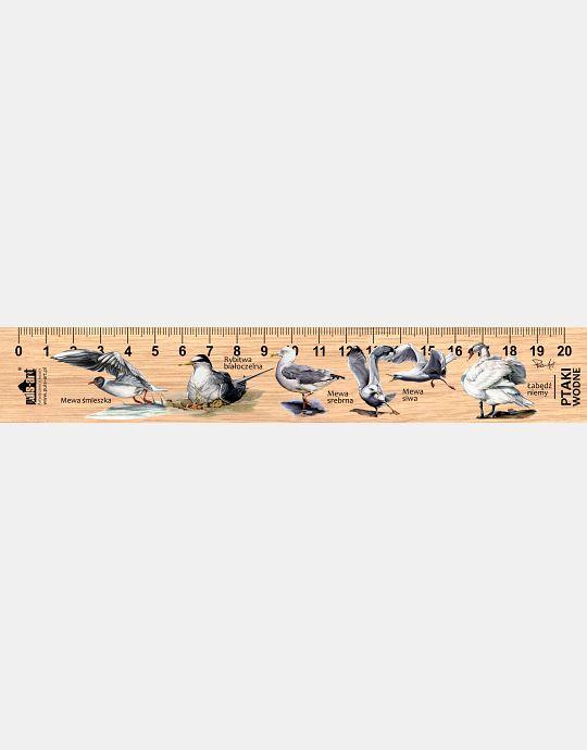 LESs-52 - ptaki wodne (linijka drewniana)