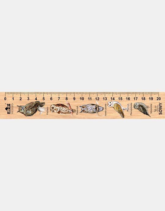 LESs-6 - sowy (linijka drewniana)