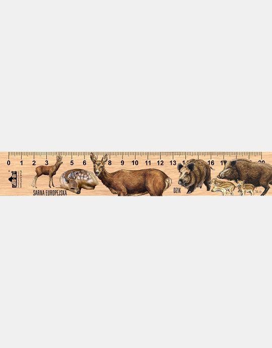 LESs-83 - Dzik i sarna (linijka drewniana)