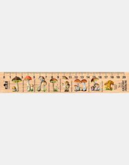 LESs-9 - grzyby jadalne (linijka drewniana)