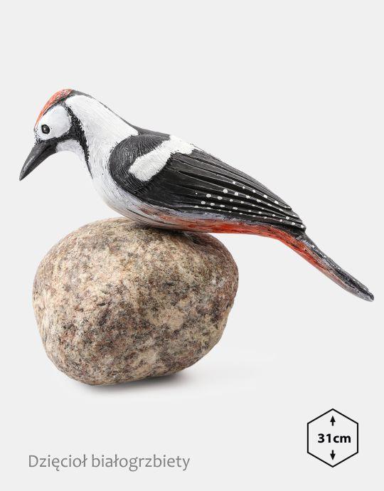 PTD-1 - Dzieciol bialogrzbiety (figurki modele ptakow, ptaki dekoracyjne, ptaki ozdobne)