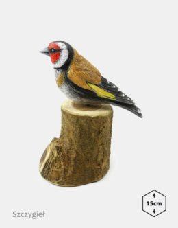 PTD-5 - Szczygiel (figurki modele ptakow, ptaki dekoracyjne, ptaki ozdobne)