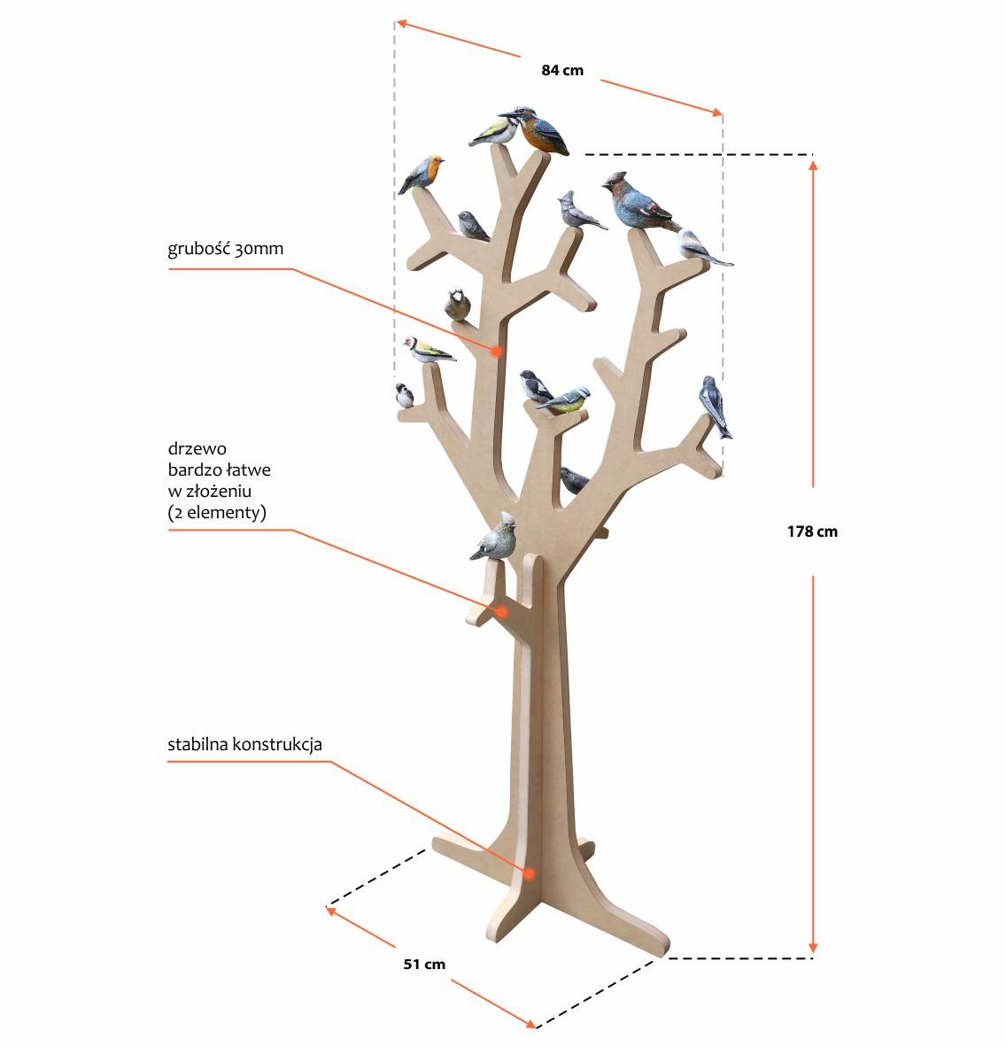Drzewo do ekspozycji ptaków - image