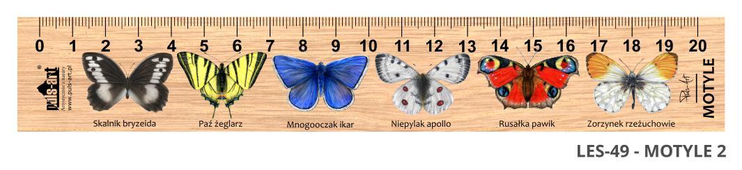 LES-49 - Motyle 2 (linijka drewniana)